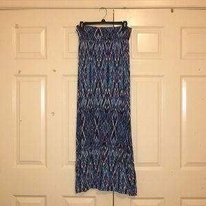 Comfy Blue Maxi Skirt